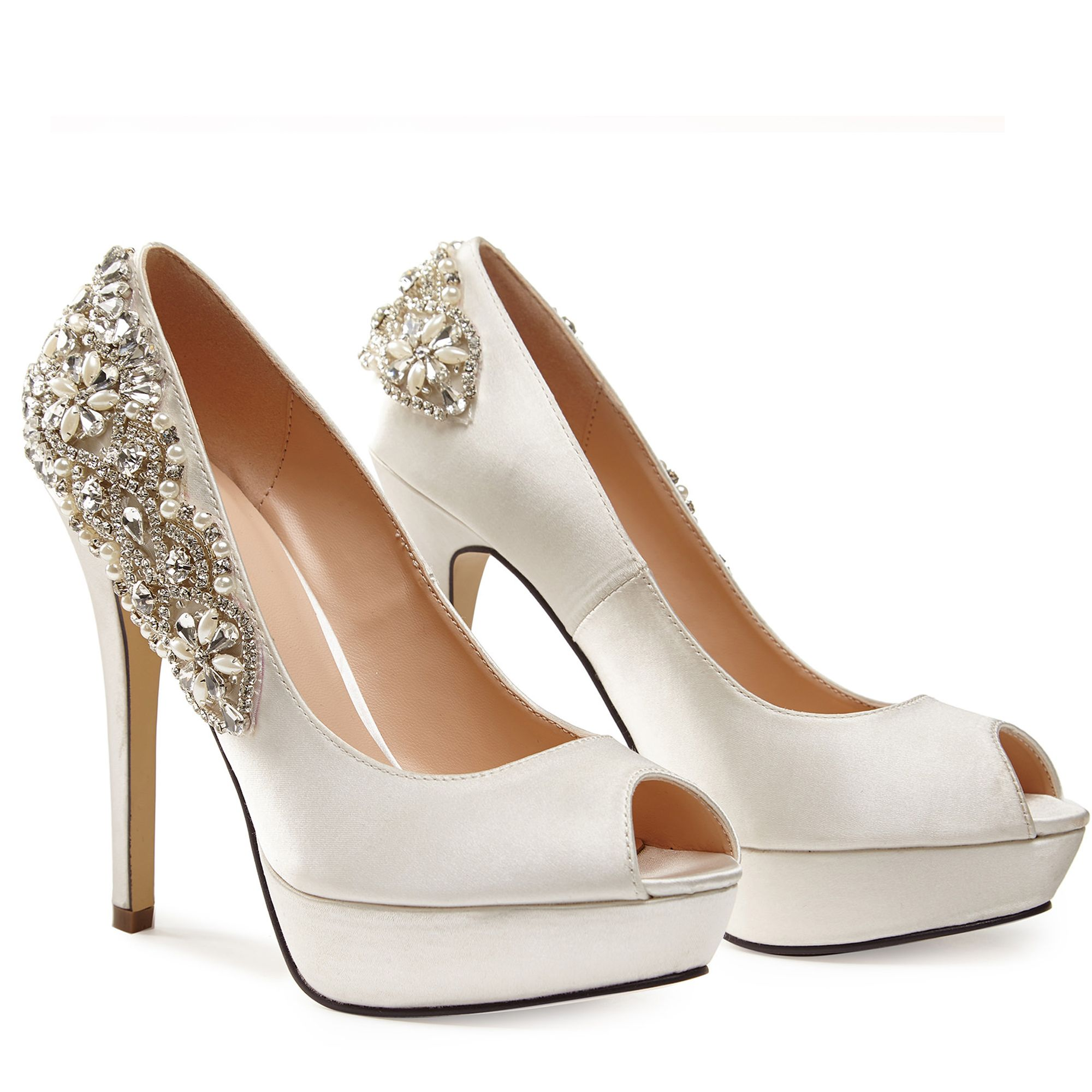 We suggest that your choose the wedding dress first, then pair the same style of the shoes that will be better, if your dress color is ivory then the best color of the shoe is also ivory. we may have not took all of the colors for one certain style, but ivory, silver, white are available for all of our shoes for weeding, you can not choose the.