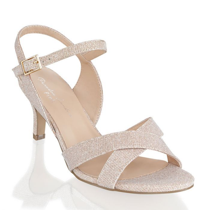 Haniya Champagne Extra Wide Fit Mid