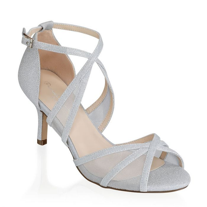 Helka Silver Extra Wide Fit Ankle Strap