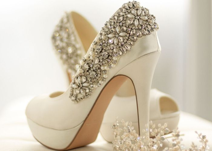Wedding Peep Toe Shoes, Paradox London