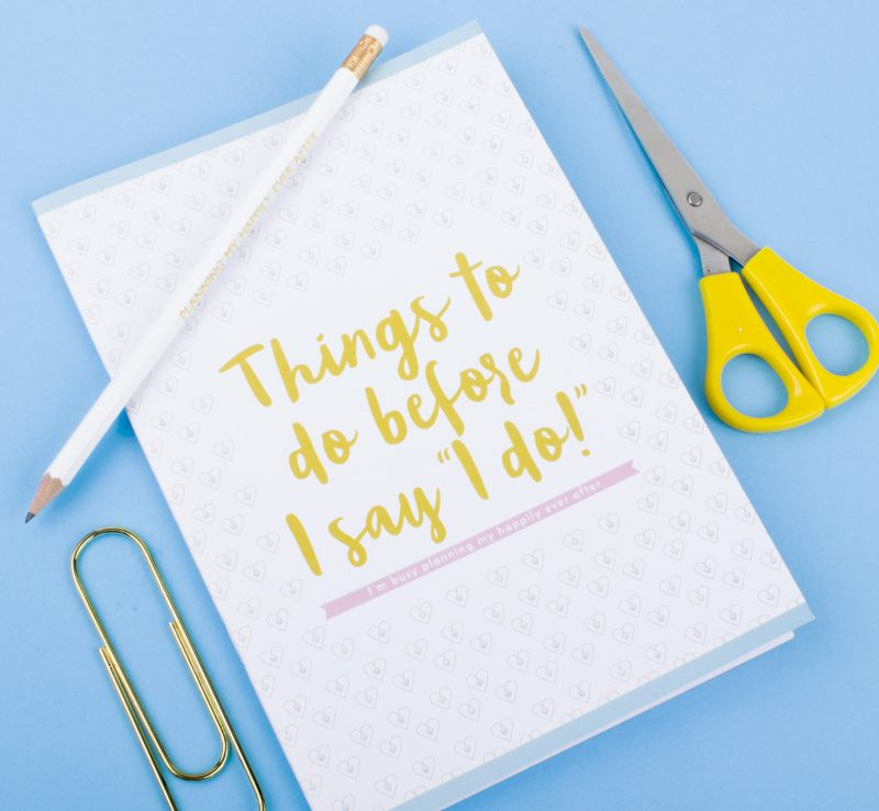 Bride to be Box journal
