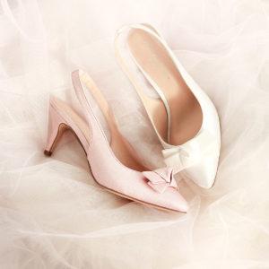 Blush Ivory wedding shoes