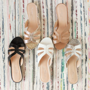 Low heel silver sandals