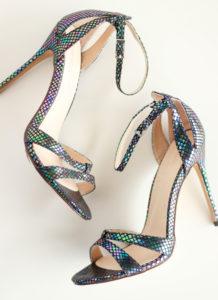 Rainbow Silver Heel Sandals