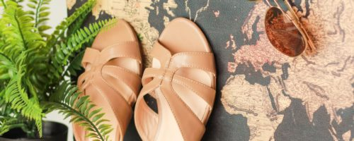 Packing shoes for a holiday