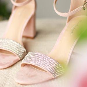 Silver Sandals with Glitter - Vanna