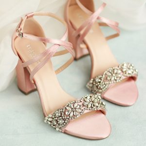 Hira Blush High Heel Sandals