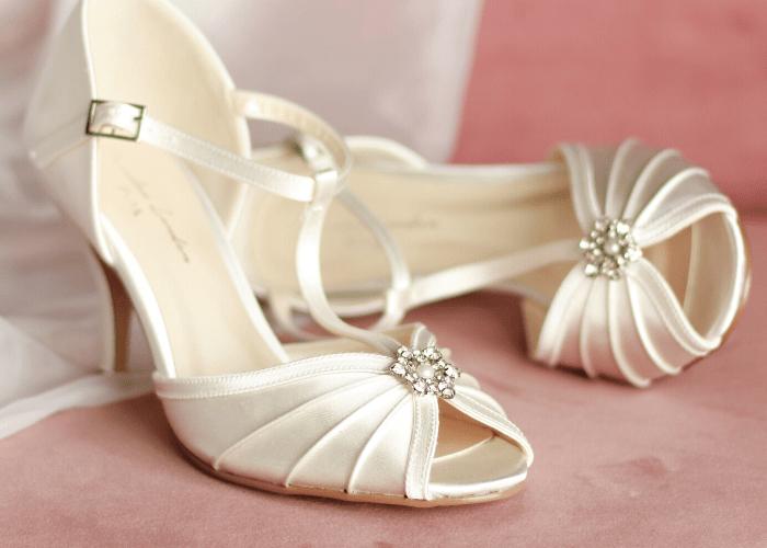 Wedding Peep Toe Shoes, Paradox London