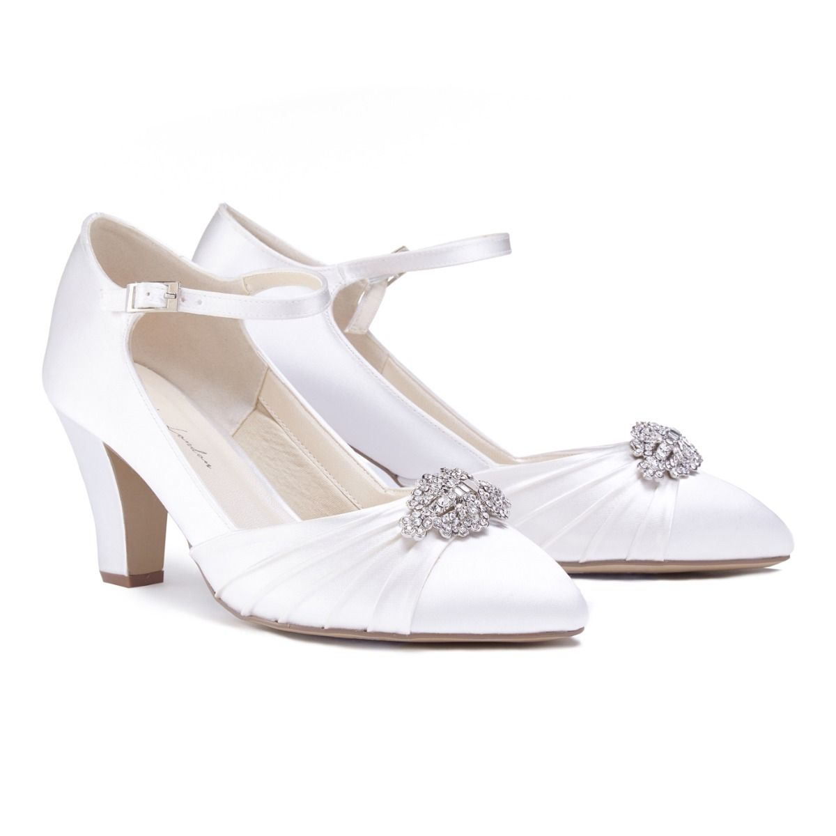 7ea7192a827 ... Heel Small Wedge Wedding Shoes Cute Low Adrianna ...