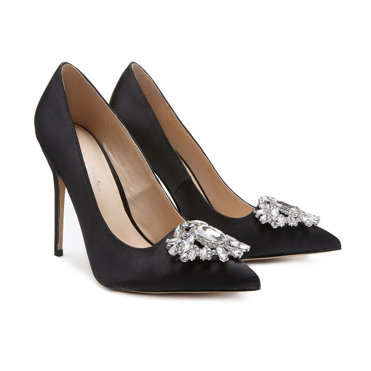9935d6918dc Cecily High Stiletto Jeweled Black Court Shoe