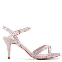 Riva - Champagne Low Heel Ankle Strap Sandal - Side Profile