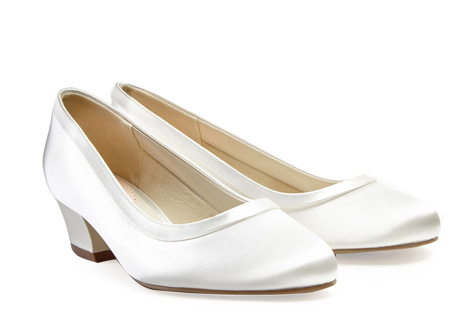 Vintage Wedding Shoes, Flats, Boots, Heels Favour Dyeable Satin £69.00 AT vintagedancer.com