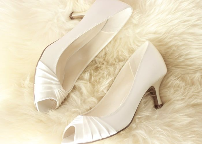 Ladies Wedding Peep Toe Shoes