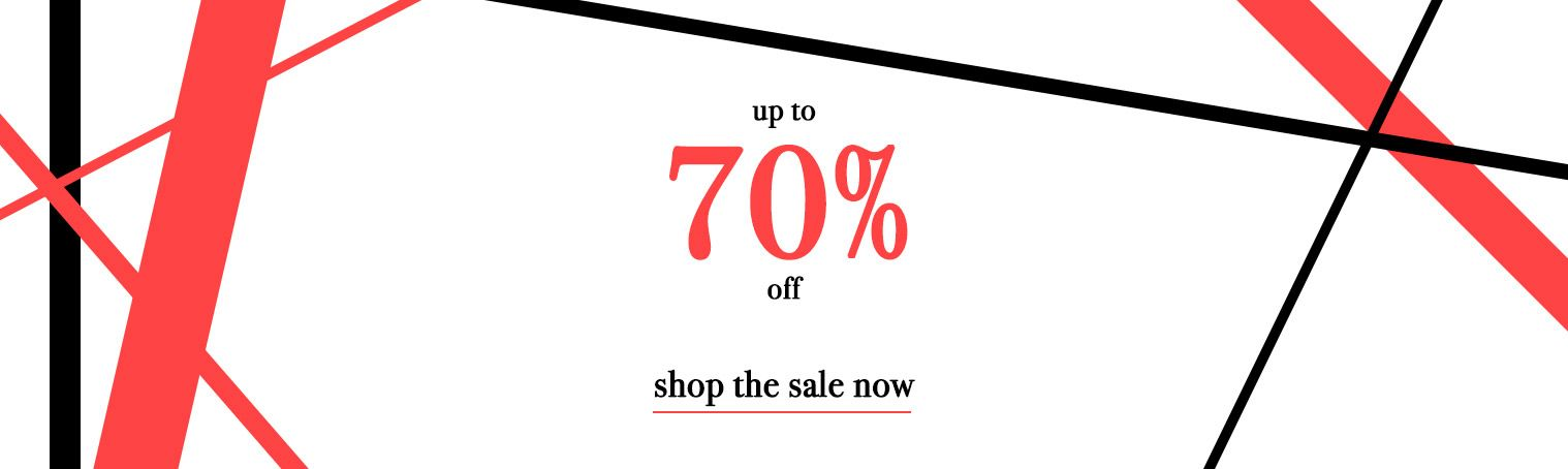 70% off sale shop now